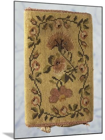 Back of Purse, Embroidered with Silk Small Stitch, with Floral Motifs--Mounted Giclee Print