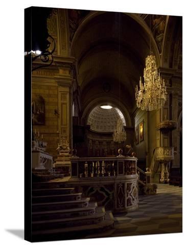 View of Interior of Cathedral of Santa Maria Assunta, Oristano, Sardinia, Italy--Stretched Canvas Print