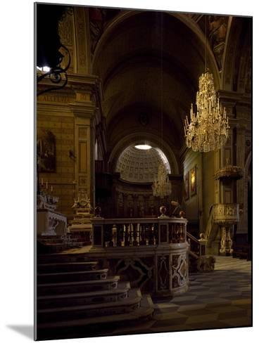 View of Interior of Cathedral of Santa Maria Assunta, Oristano, Sardinia, Italy--Mounted Giclee Print