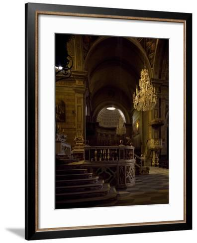 View of Interior of Cathedral of Santa Maria Assunta, Oristano, Sardinia, Italy--Framed Art Print
