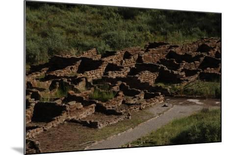 United States. Bandelier National Monument, Tyuonyi, Pueblo Indian Settlement--Mounted Giclee Print