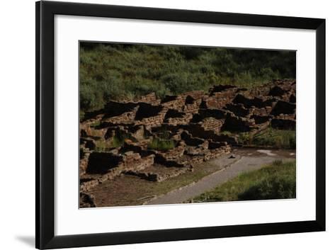 United States. Bandelier National Monument, Tyuonyi, Pueblo Indian Settlement--Framed Art Print