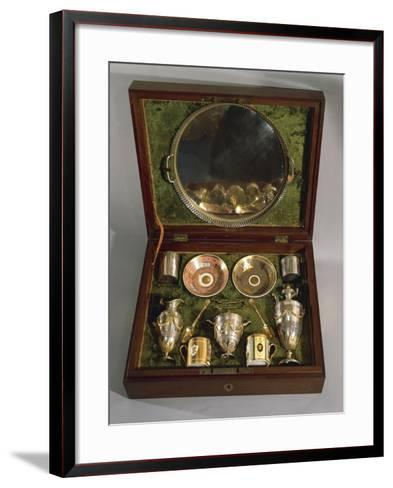 Cased Tete-A-Tete Service, Empire Style--Framed Art Print