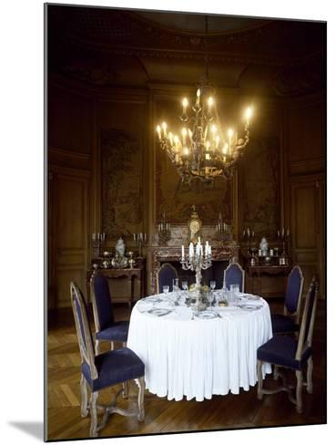 France, Chateau De Saint-Fargeau, Dining Room--Mounted Giclee Print
