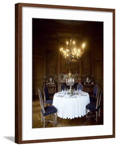 France, Chateau De Saint-Fargeau, Dining Room--Framed Art Print