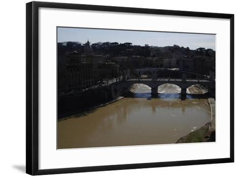 Italy. Rome. Tiber River from Castel Sant'Angelo--Framed Art Print