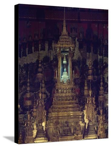 Interior of Bot, or Chapel, of Emerald Buddha in Wat Phra Kaew, Grand Palace, Bangkok, Thailand--Stretched Canvas Print