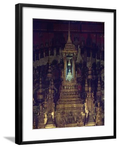 Interior of Bot, or Chapel, of Emerald Buddha in Wat Phra Kaew, Grand Palace, Bangkok, Thailand--Framed Art Print
