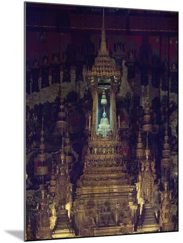 Interior of Bot, or Chapel, of Emerald Buddha in Wat Phra Kaew, Grand Palace, Bangkok, Thailand--Mounted Giclee Print