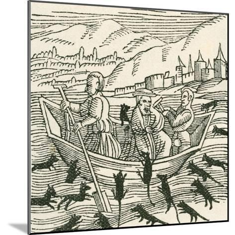 Illustration Depicting the 10th Century Folk Tale of Hatto, Who Was the Archbishop of Mainz--Mounted Giclee Print