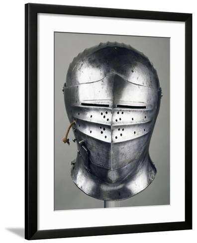 Horseman's Helmet, 1505-1510, in Innsbruck, Austria, 16th Century--Framed Art Print