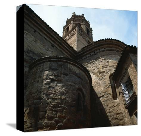 Spain. Monzon. Co-Cathedral of Our Lady of Romeral, Detail--Stretched Canvas Print