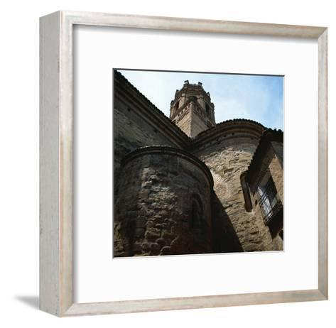 Spain. Monzon. Co-Cathedral of Our Lady of Romeral, Detail--Framed Art Print