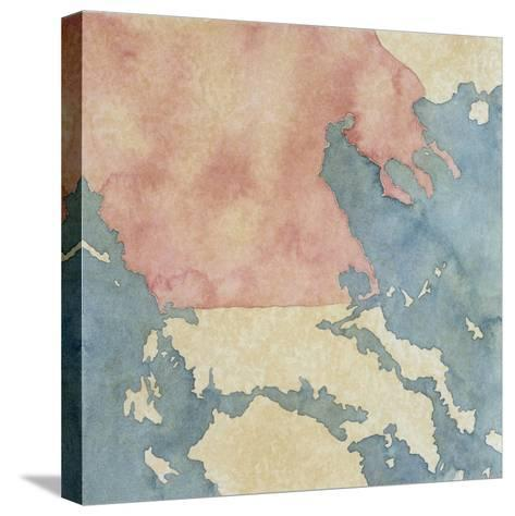 Map of Greek Regions under Macedonian Rule, 3rd Century BC--Stretched Canvas Print