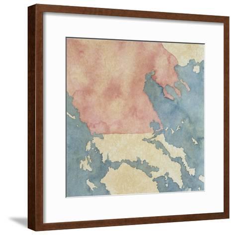 Map of Greek Regions under Macedonian Rule, 3rd Century BC--Framed Art Print