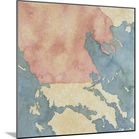 Map of Greek Regions under Macedonian Rule, 3rd Century BC--Mounted Giclee Print