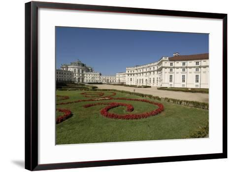 Italy, Piedmont, Stupinigi, Palazzina Di Caccia, Royal Hunting Lodge with Garden in Foreground--Framed Art Print