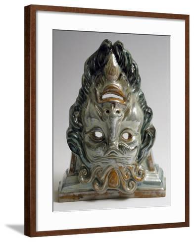 Protome or Decorative Masks, Ceramic--Framed Art Print