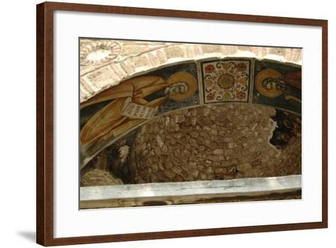 Frescoes, Exonarthex of Saint Nicholas Church--Framed Art Print