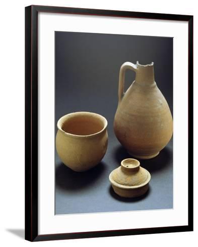 Terracotta Vases from Castelceriolo, Alessandria, Piedmont, Italy, Prehistoric Era--Framed Art Print