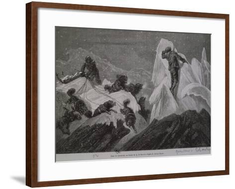 The Norwegian Expedition in Greenland, Between the Ice, 1888--Framed Art Print