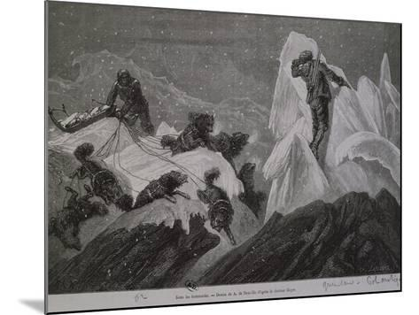 The Norwegian Expedition in Greenland, Between the Ice, 1888--Mounted Giclee Print