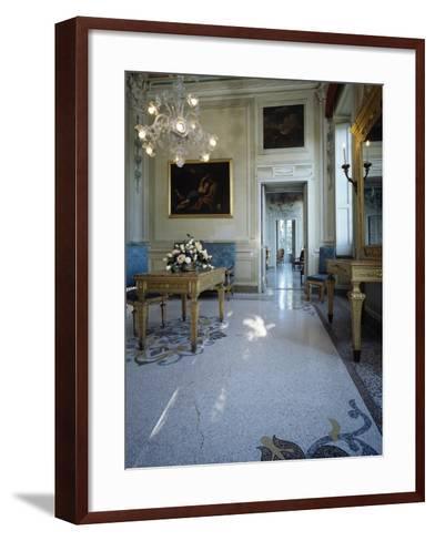 Detail of a Living Room, Villa Durazzo, Santa Margherita Ligure, Italy, 17th-19th Century--Framed Art Print