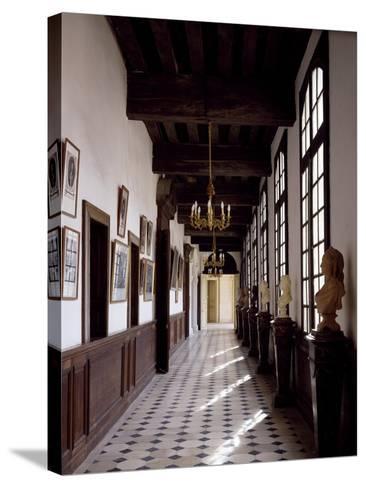 France, Chateau De Saint-Fargeau, Portrait Gallery--Stretched Canvas Print