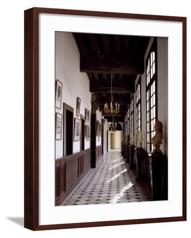 France, Chateau De Saint-Fargeau, Portrait Gallery--Framed Art Print