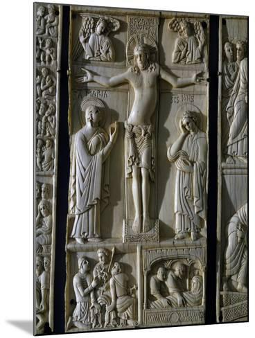 Jesus Crucified, Ivory Tablet, Part of Series Dedicated to Old and New Testament, Italy--Mounted Giclee Print