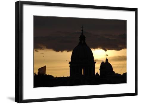 Basilica of Carlo Al Corso at Sunset--Framed Art Print
