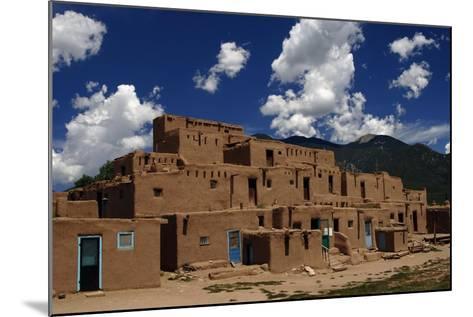 United States, Taos Pueblo, Adobe Buildings--Mounted Giclee Print