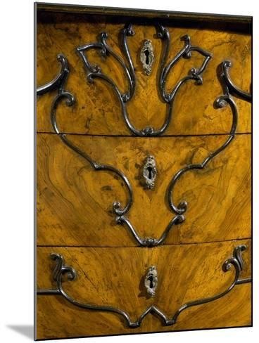 Keyholes and Decoration of Drawers from Rococo Style Lombard Trumeau Cabinet--Mounted Giclee Print