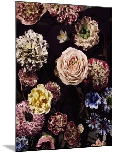 Vase Garnished with Flower Bouquets, 1752--Mounted Giclee Print