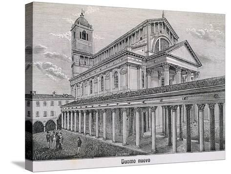 The Cathedral at Novara by Antonelli, 1877--Stretched Canvas Print