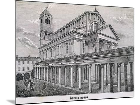 The Cathedral at Novara by Antonelli, 1877--Mounted Giclee Print