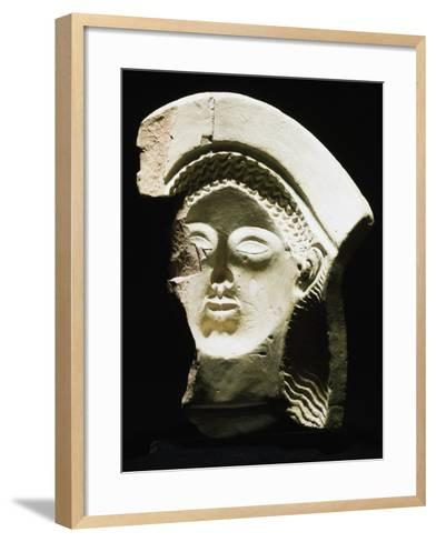Female Protome in Terracotta, Ancient Greece, 5th-4th Century BC--Framed Art Print