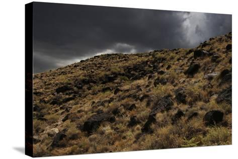 Stormy Sky over Boca Negra Canyon, New Mexico, USA--Stretched Canvas Print
