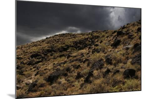 Stormy Sky over Boca Negra Canyon, New Mexico, USA--Mounted Giclee Print