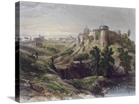 View of a Castle, France 19th Century--Stretched Canvas Print