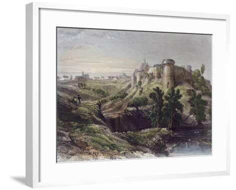 View of a Castle, France 19th Century--Framed Art Print