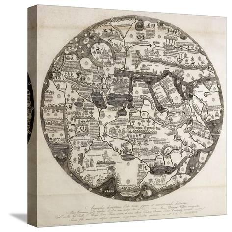 Reproduction of the Circular Ecumene, also known as Mappa Mundi Borgia or Tavola Di Velletri--Stretched Canvas Print