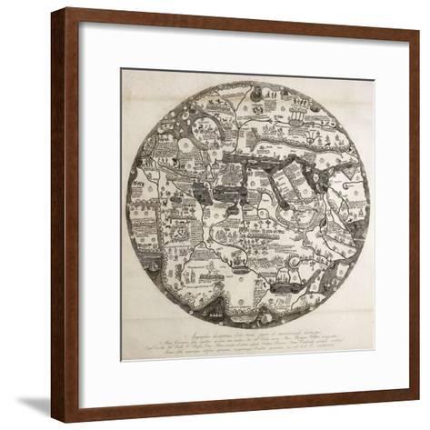 Reproduction of the Circular Ecumene, also known as Mappa Mundi Borgia or Tavola Di Velletri--Framed Art Print