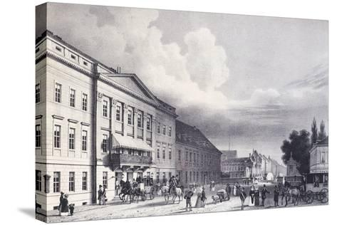 The Berlin Theatre, Germany 19th Century--Stretched Canvas Print
