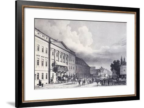 The Berlin Theatre, Germany 19th Century--Framed Art Print