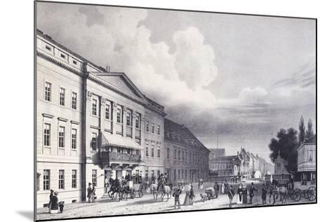 The Berlin Theatre, Germany 19th Century--Mounted Giclee Print