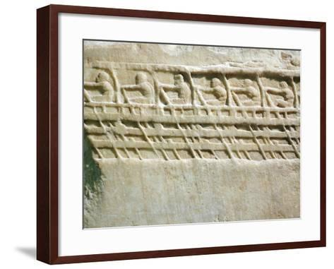 Lenormant Relief, Work Depicting Triremes and Oarsmen,5th Century BC, Ancient Greece--Framed Art Print