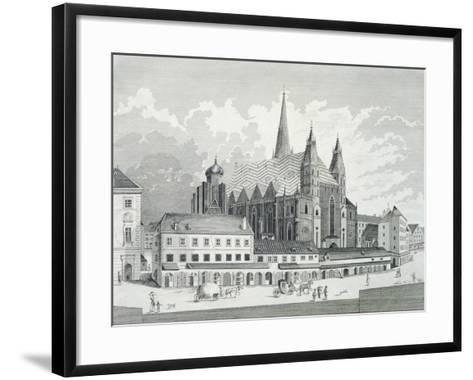 The Cathedral Square in Vienna, 1780, Austria Engraving--Framed Art Print