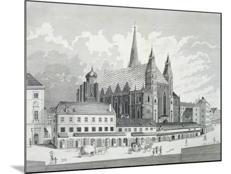 The Cathedral Square in Vienna, 1780, Austria Engraving--Mounted Giclee Print