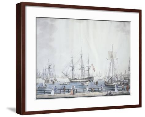 The Port of Copenaghen, 1794, Denmark 18th Century--Framed Art Print